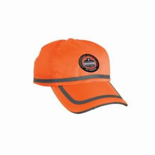 GloWear® 23291 8940 Power Cap, Orange Blank, 150D Oxford Polyester
