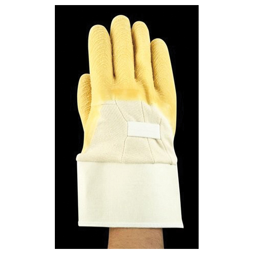 Ansell Golden Grab-it® 216584 16-347 Heavy Duty Cut Resistant Gloves, SZ 10, Latex/Natural Rubber Coating, Cotton, Safety Cuff, Resists: Abrasion, Cut and Tear, ANSI Cut-Resistance Level: A2, ANSI Puncture-Resistance Level: 2, Ambidextrous Hand
