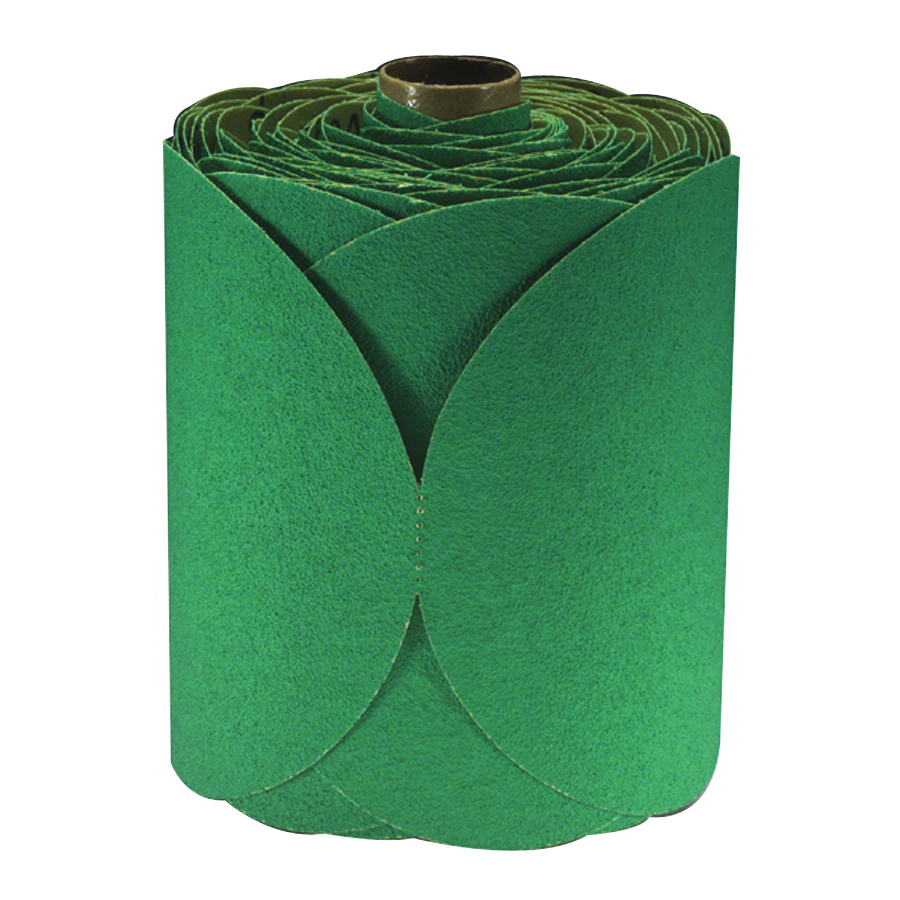 3M™ Green Corps™ 051144-01506 246U Open Coated PSA Carbide Burr, 6 in Dia Disc, P80 Grit, Coarse Grade, Aluminum Oxide Abrasive, Paper Backing