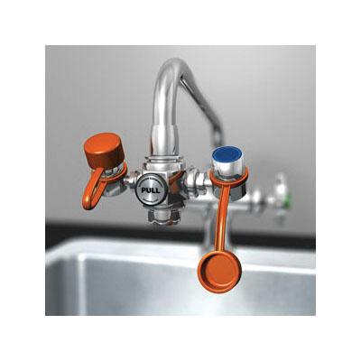 Guardian EyeSafe™ G1100 Eyewash, Faucet Mounting, Pull Knob Operation, Specifications Met: ANSI Z358.1-2014