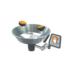 Guardian G1750 Eye/Face Wash With Stainless Steel Bowl, Wall Mounting, Push Handle Operation, Specifications Met: ANSI Z358.1-2014