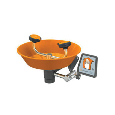 Guardian G1750P Eye/Face Wash With ABS Plastic Bowl, Wall Mounting, Push Handle Operation, Specifications Met: ANSI Z358.1-2014