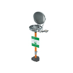 Guardian G1825BC Eyewash With Stainless Steel Bowl and Cover, Pedestal Mounting, Push Handle Operation, Specifications Met: ANSI Z358.1-2014