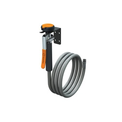 Guardian G5025 Wall Mounted Drench Hose Unit, 8 ft L Hose, Squeeze Valve, 3.2 gpm, Reinforced PVC Hose, Specifications Met: ANSI Z358.1-2014, cUPC Listed