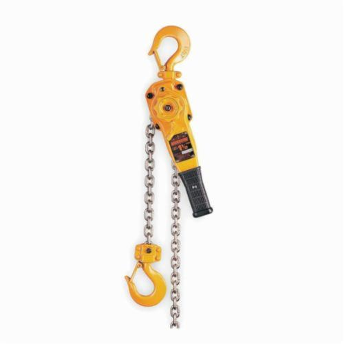 HARRINGTON LB008-10 Lever Chain Hoist, 0.75 ton Load, 10 ft H Lifting, 54 lb Rated, 11 ft L Chain, 7/8 in Hook Opening