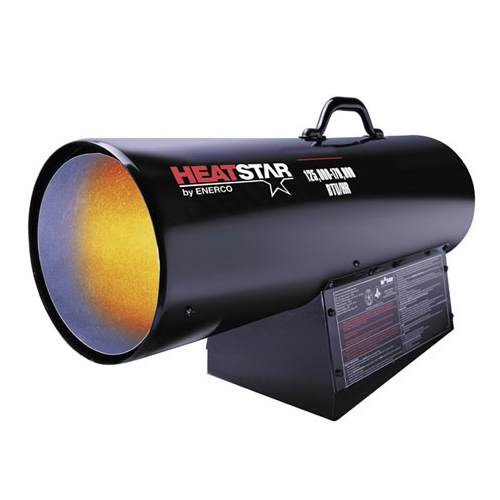 HEATSTAR F170180 Heavy-Duty Forced Air Heater With Thermostat, 150000 Btu/hr, 115 VAC, Natural Gas