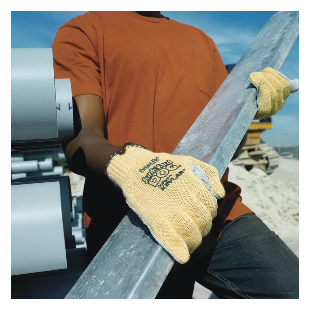 Sperian® by Honeywell KV18AJ-100-50 Junk Yard Dog® Standard Weight Cut Resistant Gloves, Jumbo, Kevlar® Fiber, Knit Wrist Cuff, Resists: Abrasion, Cut and Puncture, ANSI Cut-Resistance Level: A3, Paired Hand