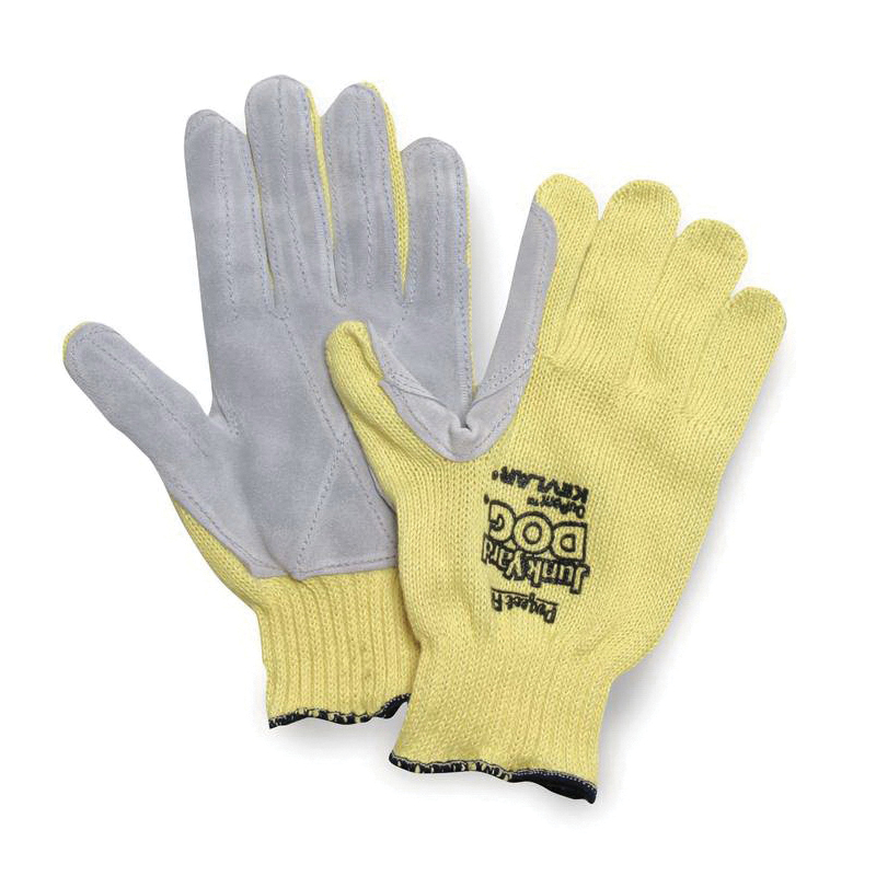 Sperian® by Honeywell KV18A-100-50 Junk Yard Dog® Men's Standard Weight Cut Resistant Gloves, L, Kevlar® Fiber, Knit Wrist Cuff, Resists: Abrasion, Cut and Puncture, ANSI Cut-Resistance Level: A3, Paired Hand