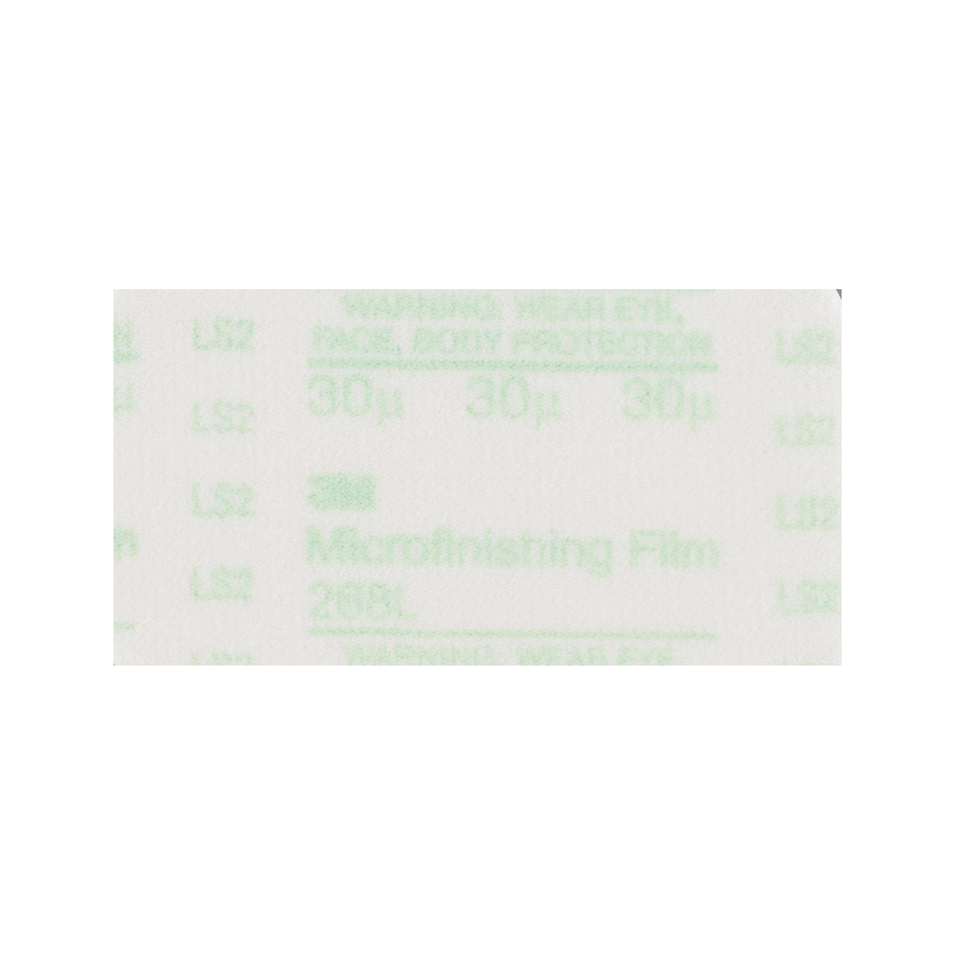 3M™ Hookit™ 051111-49999 268L Type D PSA Microfinishing Sheet, 11 in L x 8-1/2 in W, 60 micron Grit, Fine Grade, Aluminum Oxide Abrasive, 3 mil Polyester Film Backing