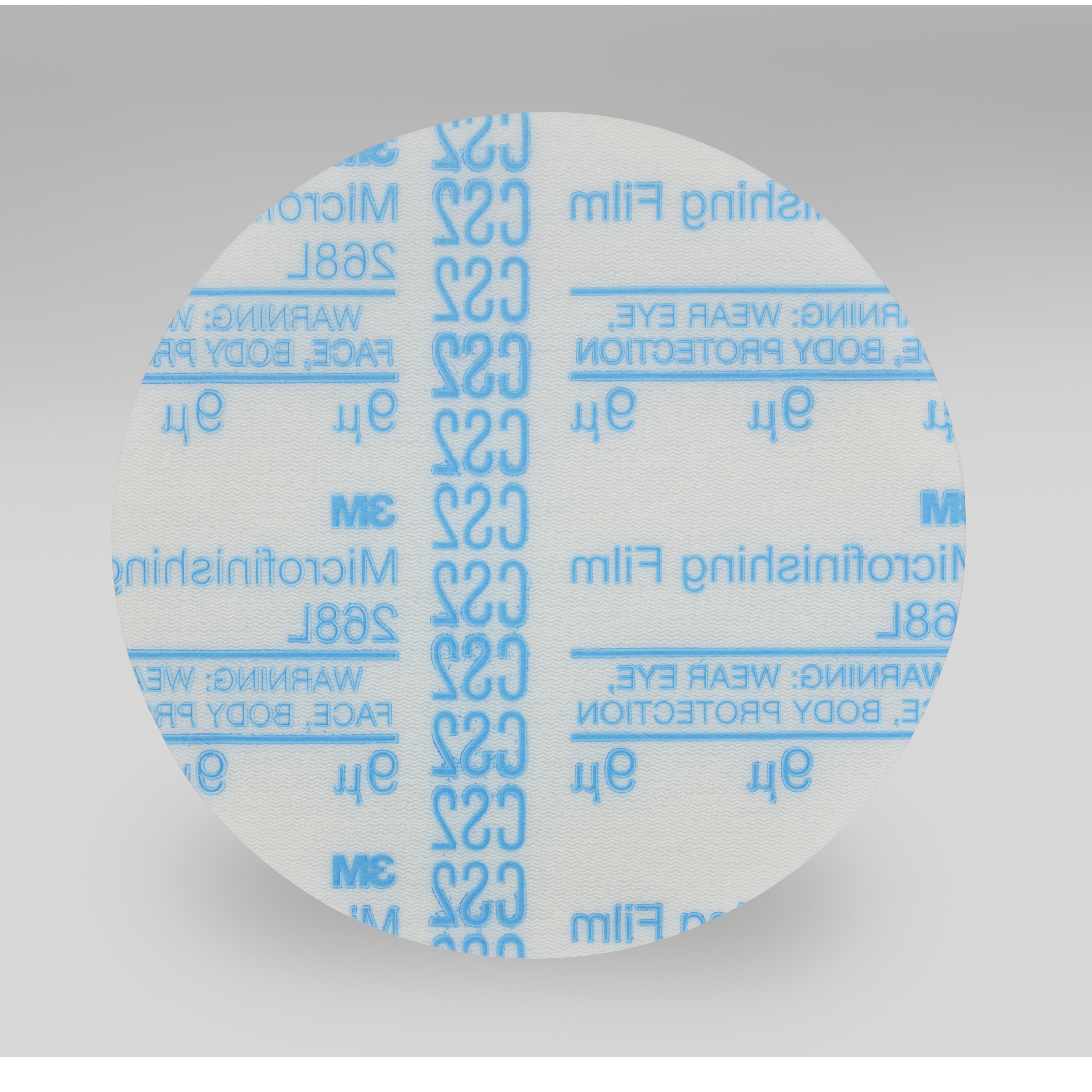3M™ Hookit™ 051144-81917 268L Type D Microfinishing Orbital Sanding Disc, 5 in Dia Disc, 9 micron Grit, Ultra Fine Grade, Aluminum Oxide Abrasive, Polyester Film Backing