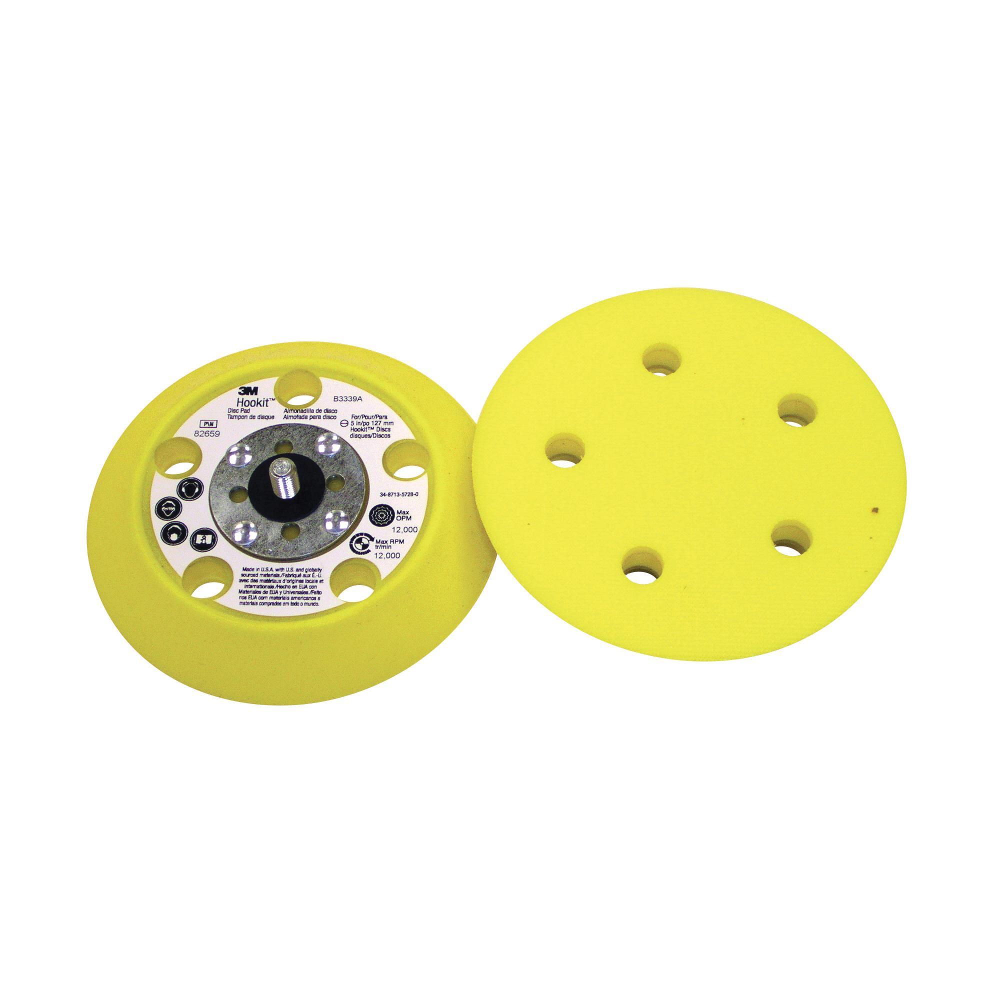 3M™ Hookit™ 051144-82659 General Purpose Medium Density Disc Pad, 5 in Dia Pad, 3M™ Hookit™ Attachment
