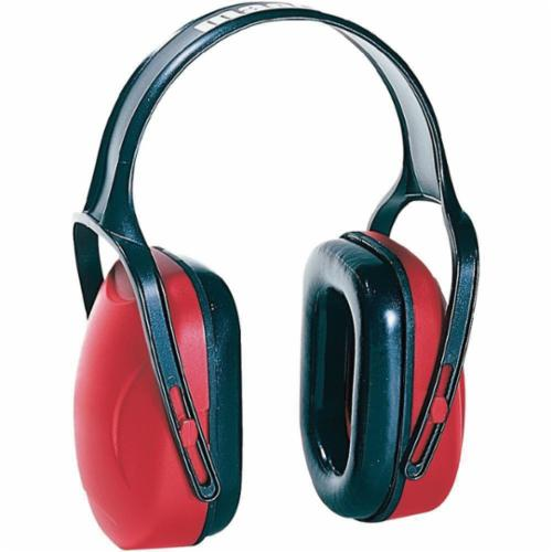 Howard Leight by Honeywell 1010421 Mach™ 1 Noise Blocking Earmuffs, 18 dB Noise Reduction, Red, Over The Head Band Position, ANSI S3.19-1974