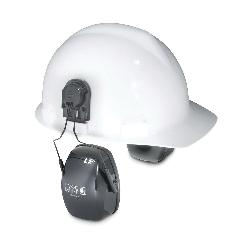 Howard Leight by Honeywell 1011991 Leightning® L1H Hard Hat Earmuffs With Hard Hats Adapter, 23 dB Noise Reduction, Gray, ANSI S3.19-1974