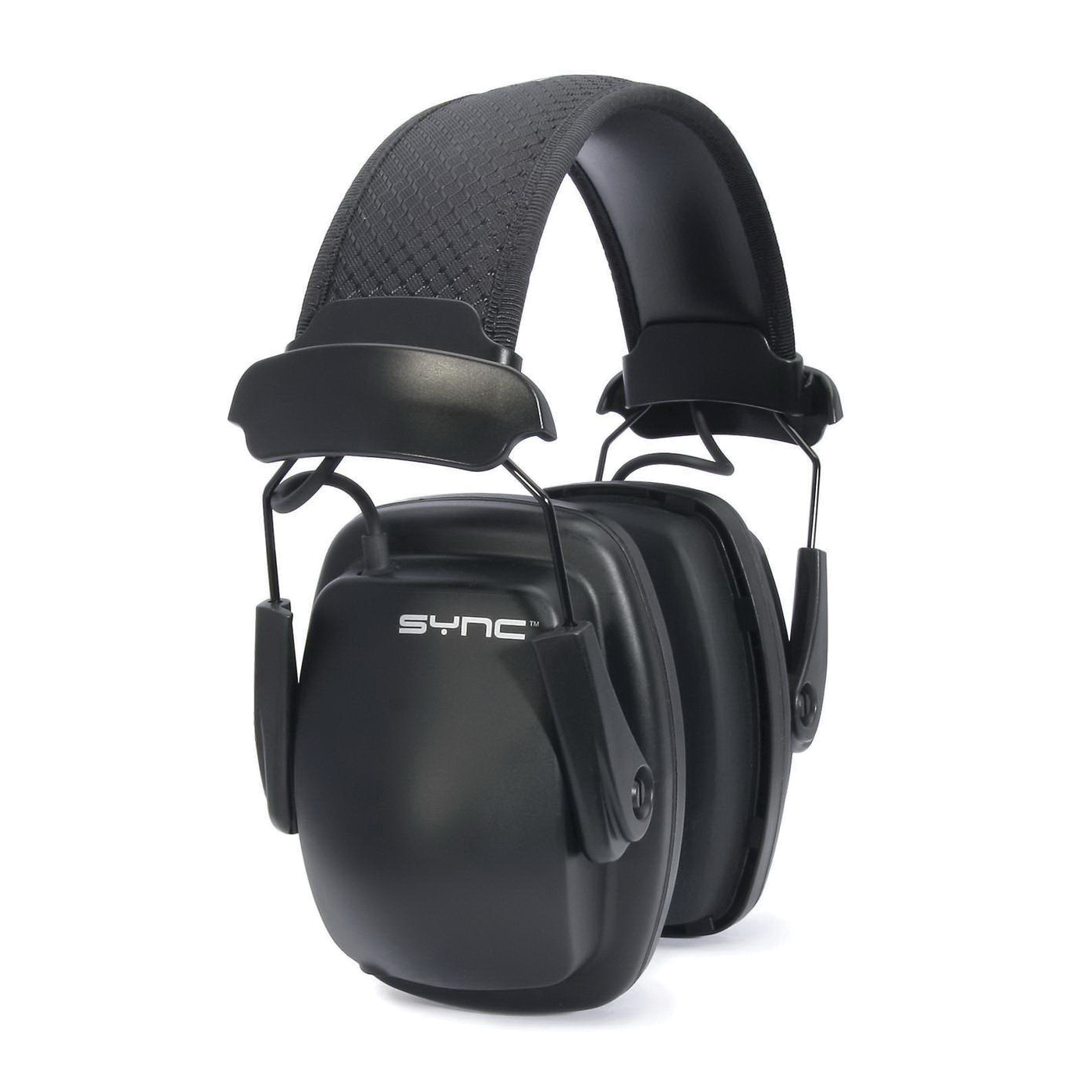 Howard Leight by Honeywell 1030110 Sync Noise Blocking Stereo Earmuffs, 25 dB Noise Reduction, Black, Over The Head Band Position, OSHA Approved, EN 352-1, 352-4, EN 352-6, 89/686/EEC