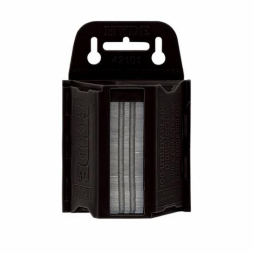 Hyde® 42101 Heavy Duty Utility Replacement Blade With Dispenser, 0.025 in THK