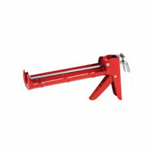 Hyde® 46400 Smooth Rod Caulk Gun, 10 oz Container, Red