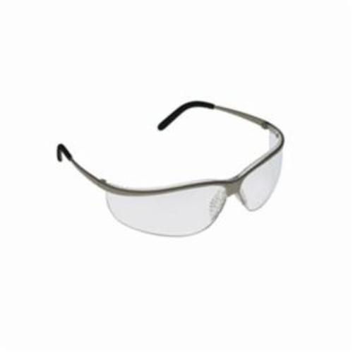 3M™ Metaliks™ 078371-62355 Sport Protective Eyewear, Anti-Fog, Clear Lens, Half Framed Frame, Brushed Nickel, Metal Frame, Polycarbonate Lens, ANSI Z87.1-2015, CSA Z94.3-2007
