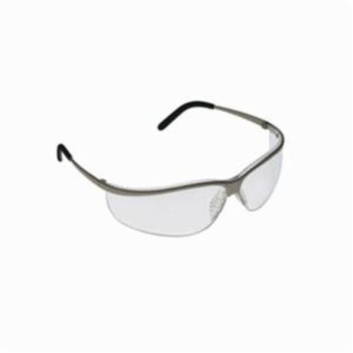 3M™ Metaliks™ 078371-62357 Sport Protective Eyewear, Anti-Scratch, Mirror Lens, Half Framed Frame, Brushed Nickel, Metal Frame, Polycarbonate Lens, ANSI Z87.1-2015, CSA Z94.3-2007