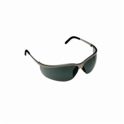 3M™ Metaliks™ 078371-62356 Sport Protective Eyewear, Anti-Fog Gray Lens, Half Frame Brushed Nickel Metal Frame, Polycarbonate Lens, Specifications Met: ANSI Z87.1-2015, CSA Z94.3-2007