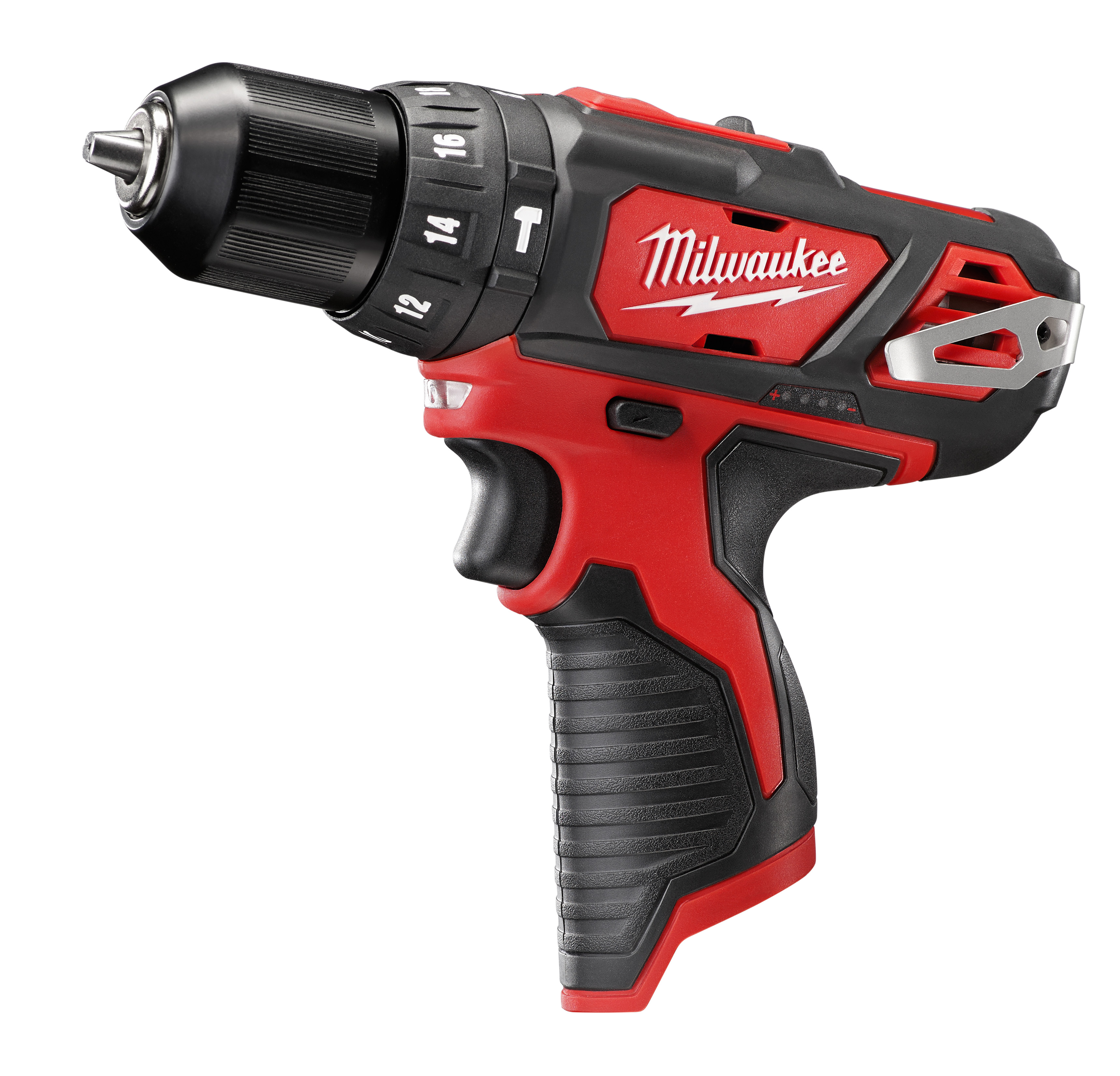 Milwaukee® M12™ 2408-20 Cordless Hammer Drill/Driver, 3/8 in Keyless Chuck, 12 VDC, 400/1500 rpm No-Load, Lithium-Ion Battery