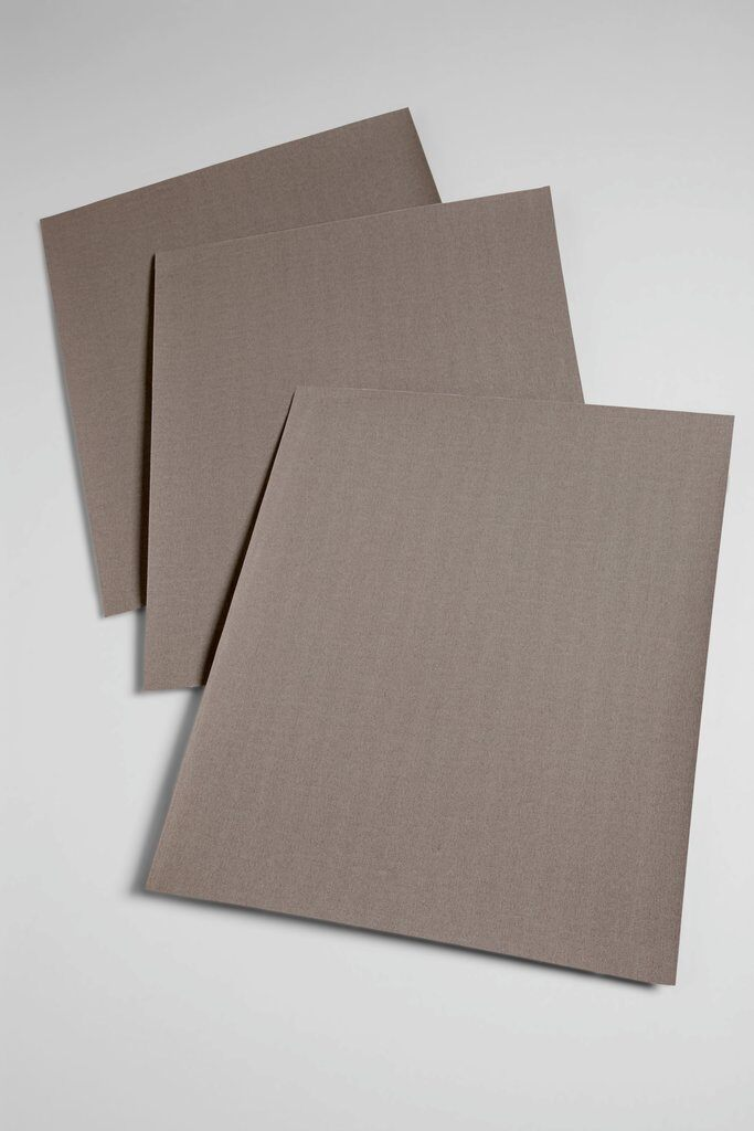 3M™ 051144-12500 211K Utility Sheet, 11 in L x 9 in W, 500 Grit, Super Fine Grade, Aluminum Oxide Abrasive, Cloth Backing