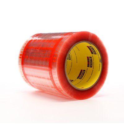 Scotch® 021200-06947 8240 Industrial Pouch Tape Sheet, 6 in L x 5 in W, Orange