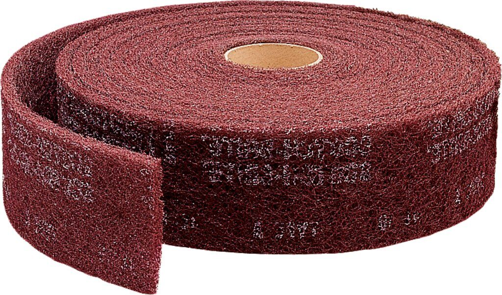 3M™ 00260 Clean and Finish Roll, 30 ft L x 2 in W, Very Fine Grade, Aluminum Oxide Abrasive