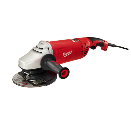Milwaukee® 6088-31 Double Insulated Large Angle Grinder, 7 in, 9 in Dia Wheel, 5/8-11 UNC Arbor/Shank, 120 VAC, Black/Red