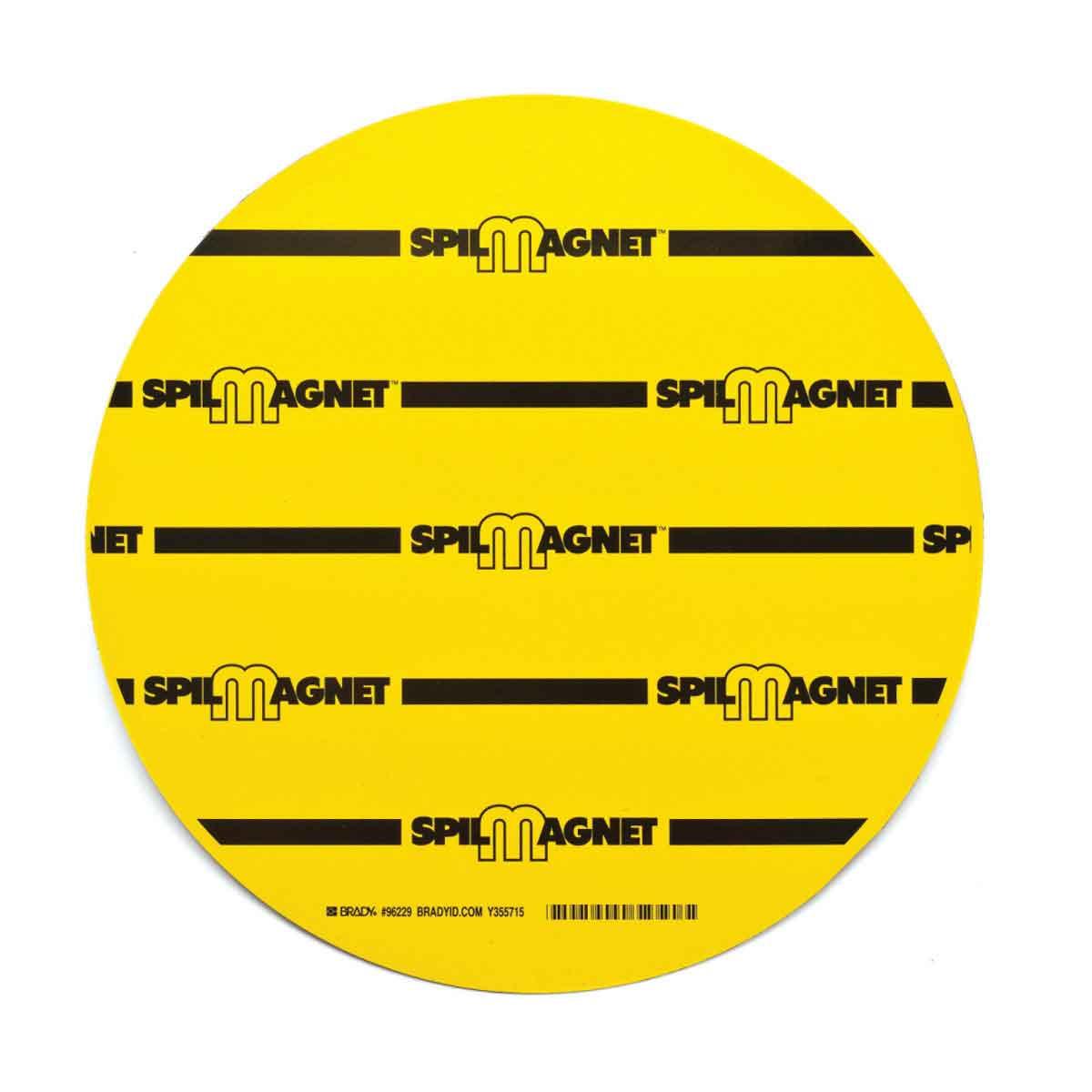 Brady® Spill Magnet™ 96229 Drain Cover, Vinyl, Black on Yellow