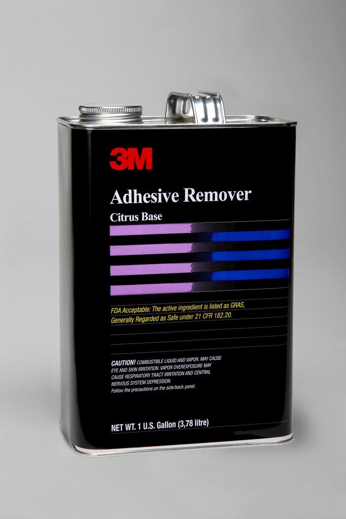3M™ Citrus-Base-Cleaner-1gal Flammable Adhesive Remover, 1 gal Can, Liquid Form, Pale Yellow, Citrus Odor/Scent