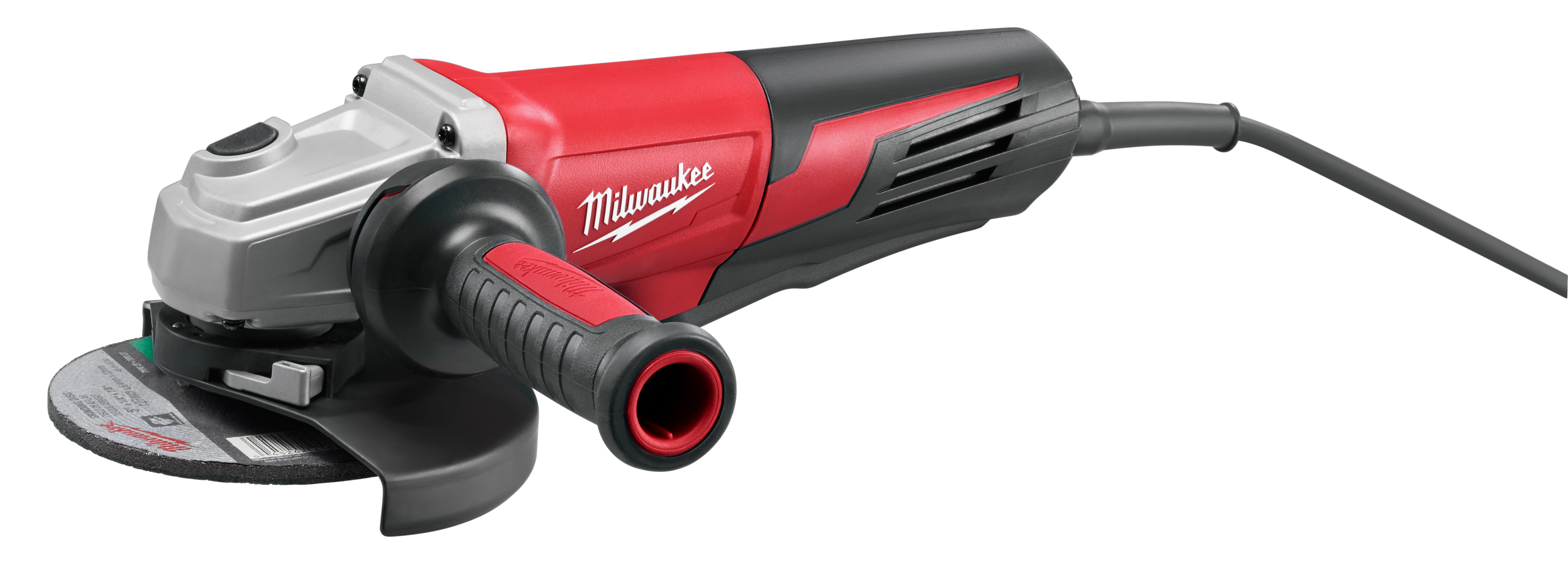 Milwaukee® 6161-30 Double Insulated Small Angle Grinder, 6 in Dia Wheel, 5/8-11 UNC Arbor/Shank, 120 VAC, Black/Red