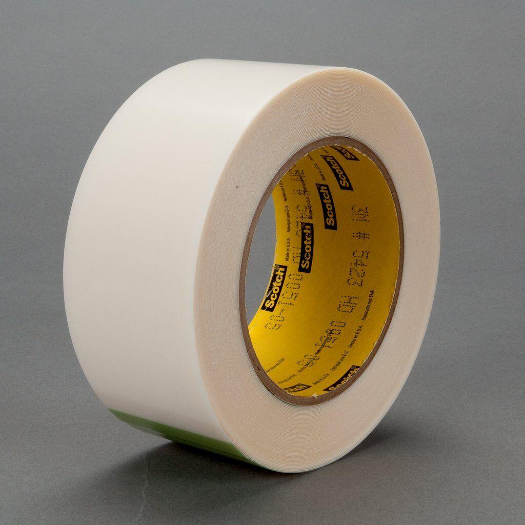 "3M™ 5423-2""x18yd Film Tape, 18 yd L x 2 in W, 11.7 mil THK, Rubber Adhesive, UHMWP Backing, Transparent"