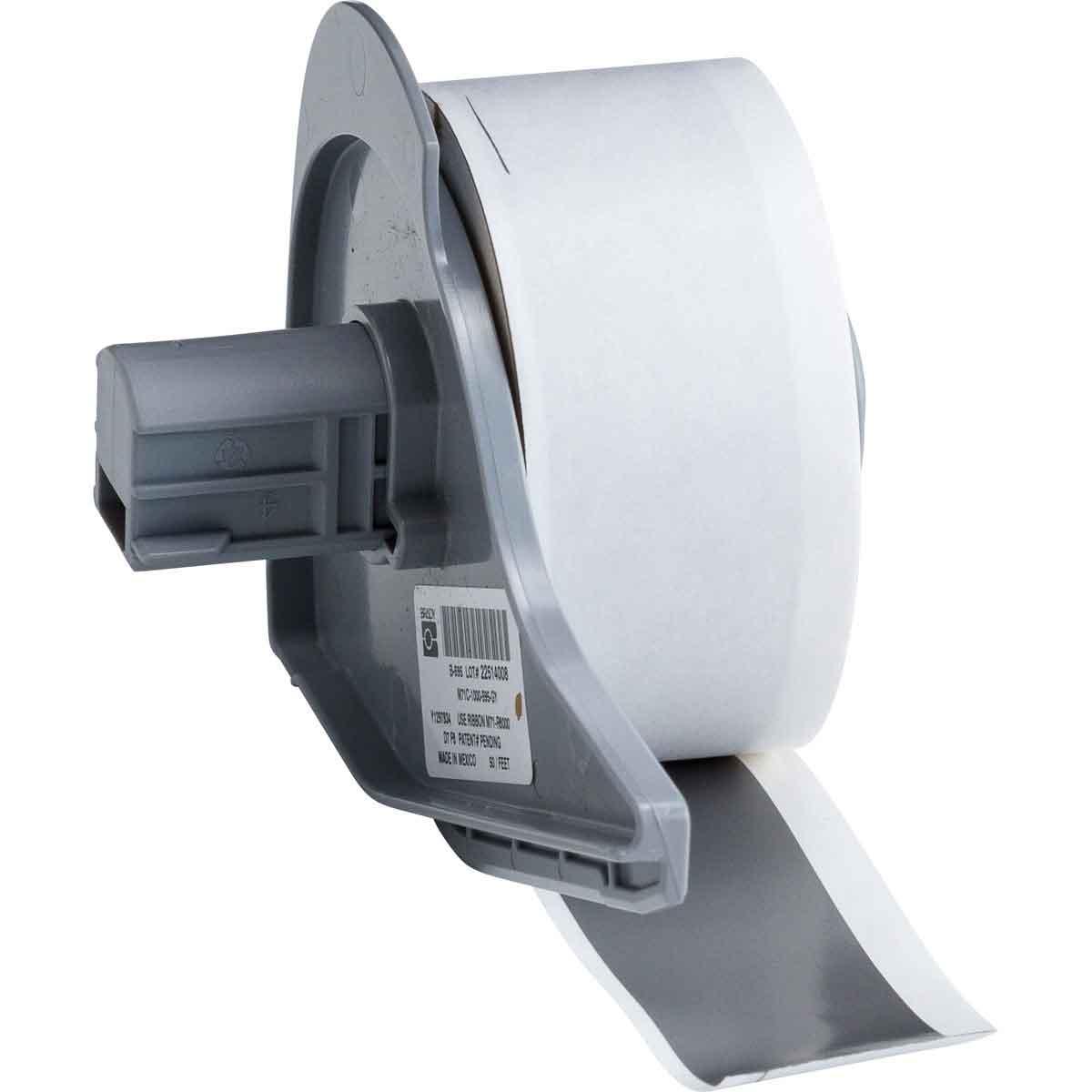 Brady® M71C-1000-595-GY Blank Thermal Transfer Tape, 50 ft L x 1 in W, Gray, B-595 Vinyl, Permanent Acrylic Adhesive, -40 to 180 deg F