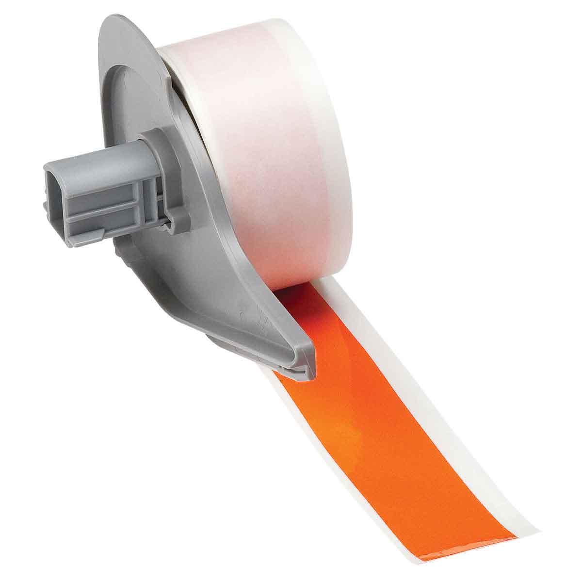 Brady® M71C-1000-595-OR Blank Thermal Transfer Tape, 50 ft L x 1 in W, Orange, B-595 Vinyl, Permanent Acrylic Adhesive, -40 to 180 deg F