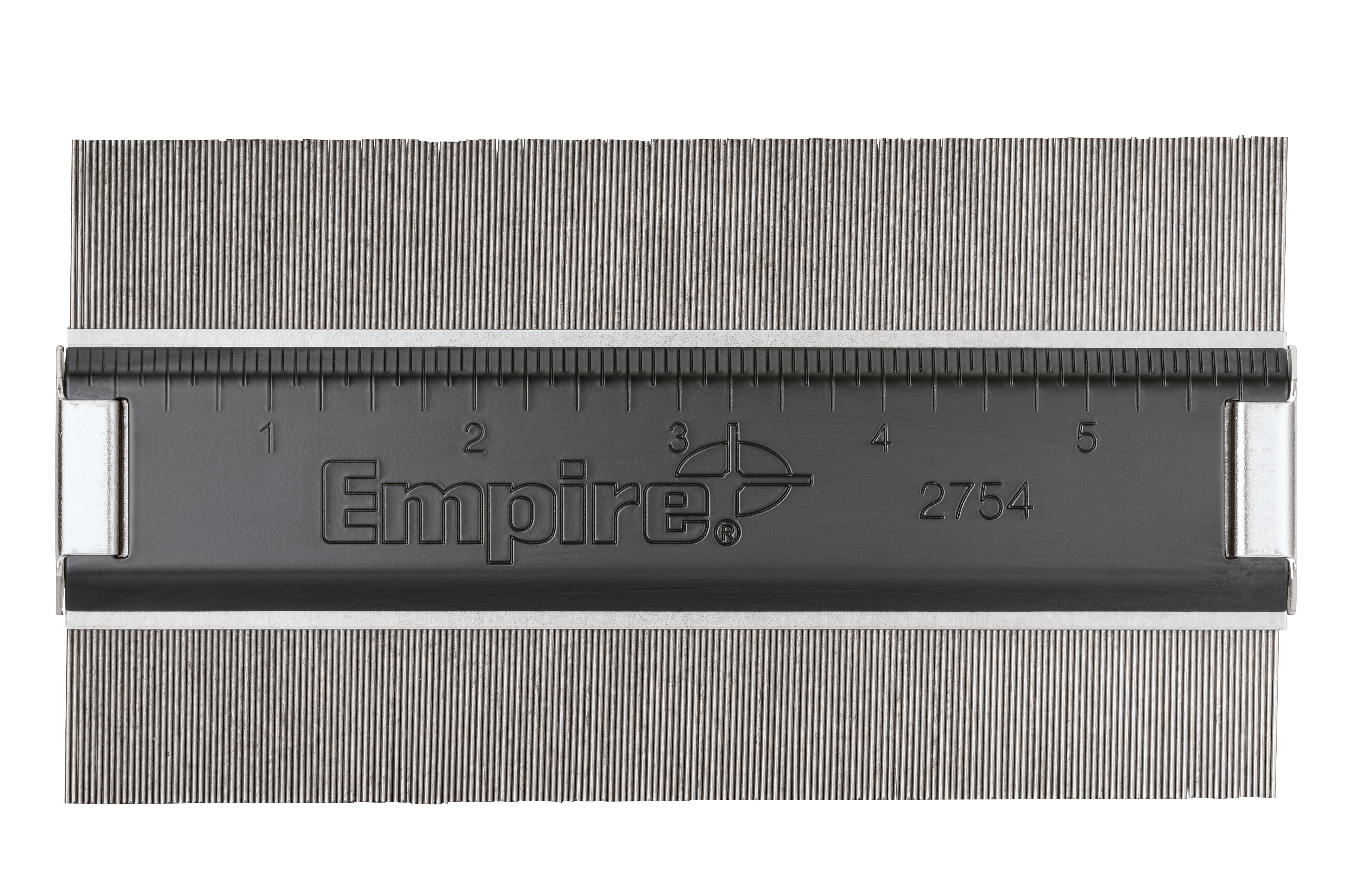 Milwaukee® Empire® 2754 Low Profile Contour Gauge, 6 in L x 1-7/8 in D, Stainless Steel, Enamel and Brass