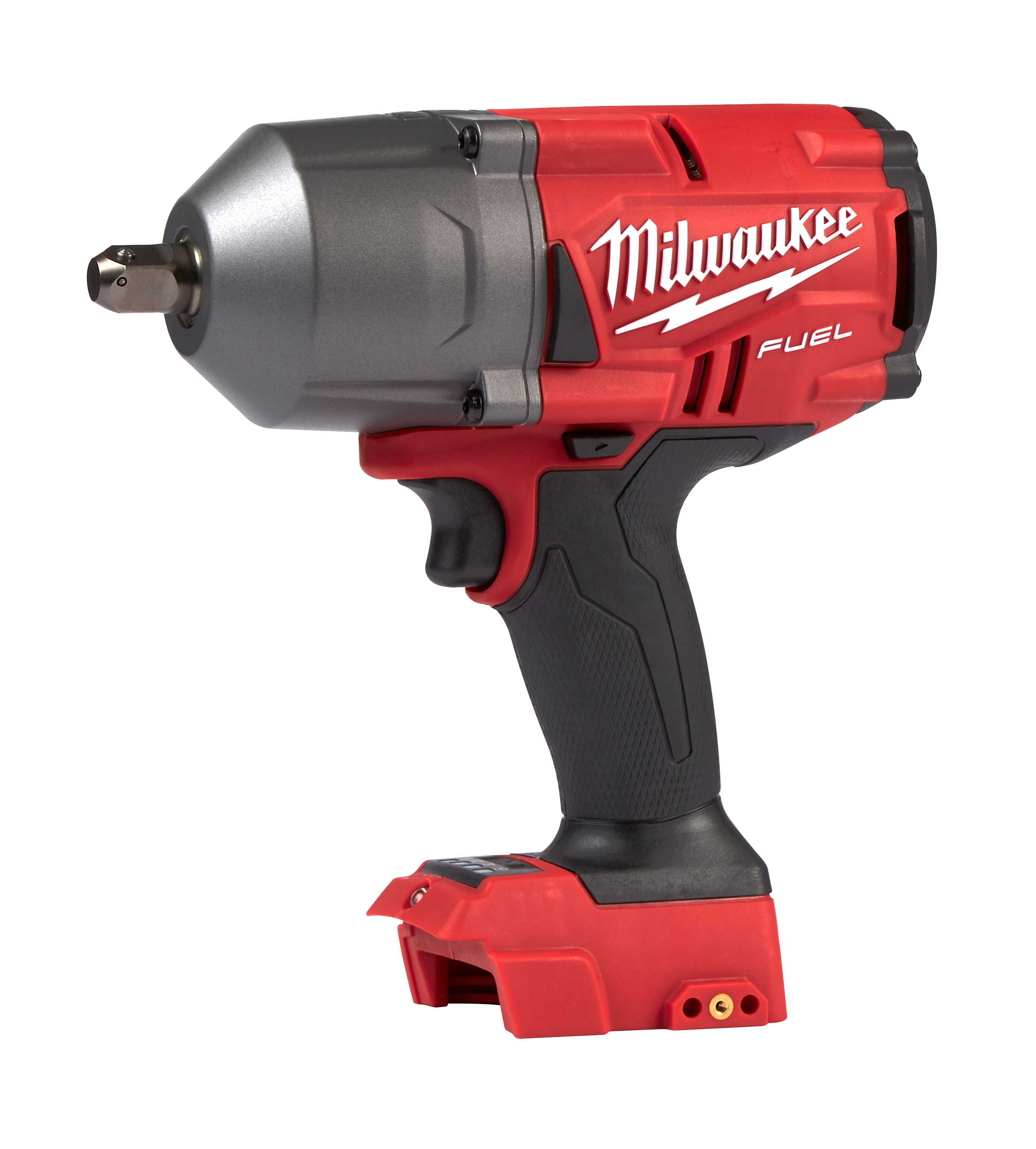 Milwaukee® M18™ FUEL™ 2766-20 Cordless Gen II High Torque Impact Wrench With 1/2 in Pin Detent Anvil, 1/2 in 4-Mode Straight Drive, 2400 bpm, 750/1100 ft-lb Torque, 18 VDC, 9-3/4 in OAL