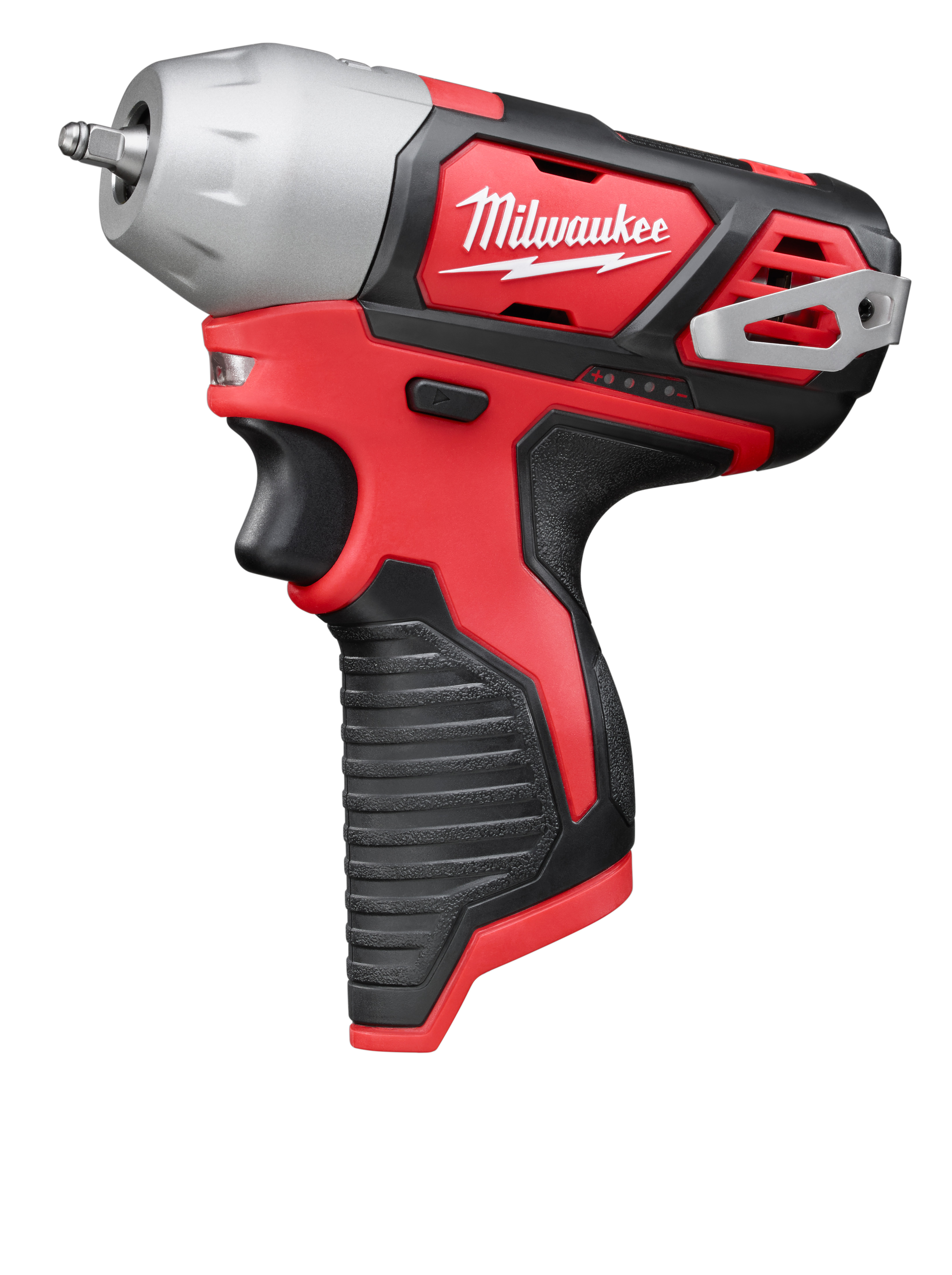 Milwaukee® M12™ 2461-20 Compact Cordless Impact Wrench With Friction Ring, 1/4 in Square Drive, 3800 bpm, 450 in-lb Torque, 12 VDC, 6 in OAL