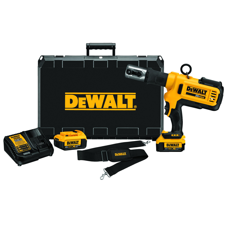 DeWALT® 20V MAX* DCE200M2 Cordless Press Tool Kit, 4 in Capacity, 4 ton, 20 V, Lithium-Ion Battery