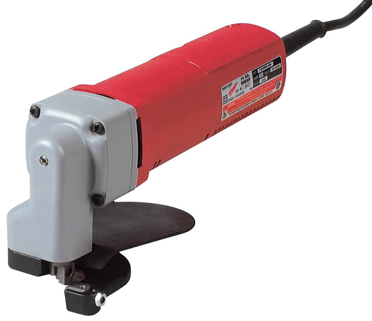 Milwaukee® 6815 Corded Electric Shear, 14 ga in Steel, 16 ga in Stainless Steel Cutting, 4000 spm, 120 VAC/VDC, 10-1/4 in OAL