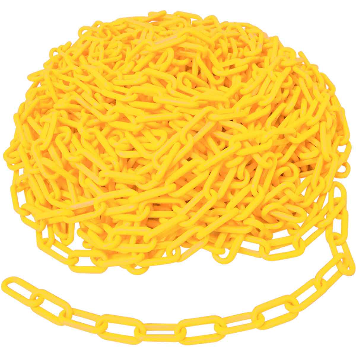 Brady® BradyLink® 78234 Warning Chain, 1-1/2 in, 100 ft L, Yellow, B-900 Polyethylene