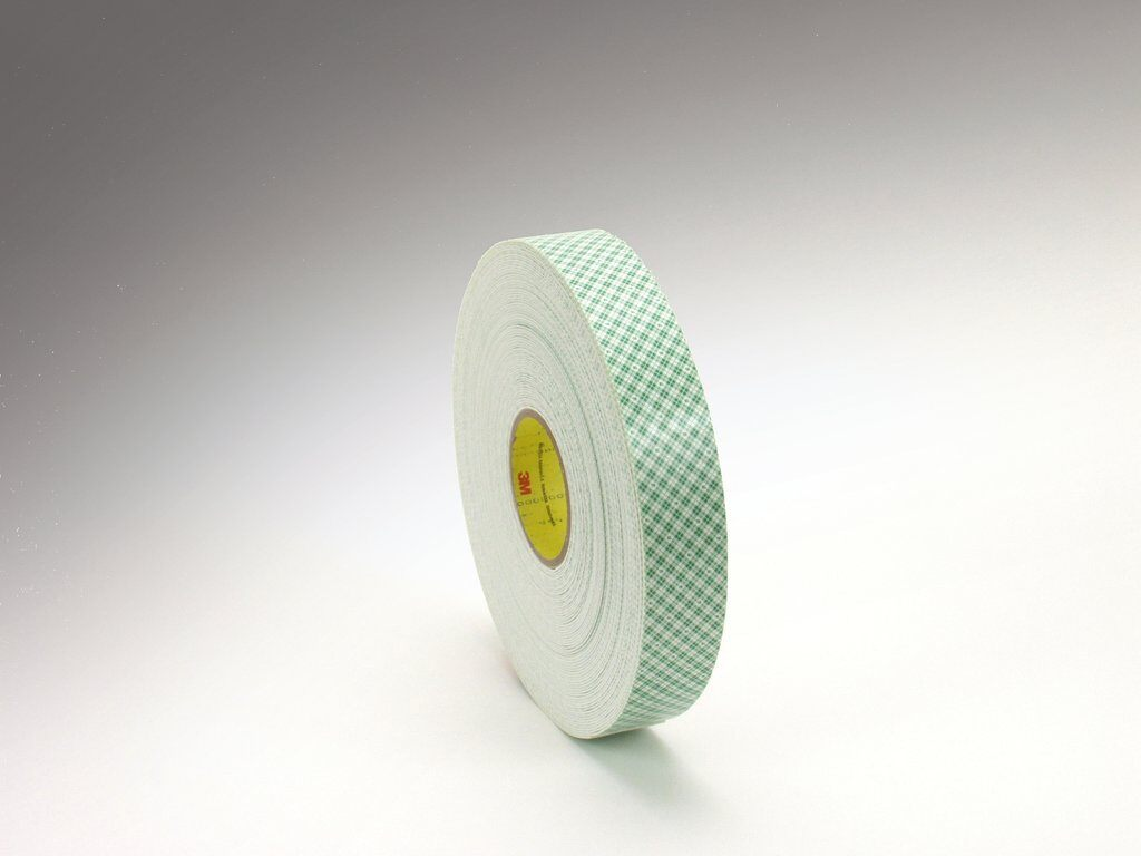 "3M™ 4016-3/4""x36yd Double Coated Urethane Foam Tape, 3/4 in L x 36 yd W, 62 mil THK, Urethane Foam, Acrylic Adhesive, Foam Backing, Off-White"