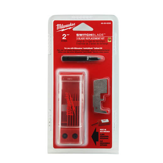 Milwaukee® SwitchBlade™ 48-25-5235 7-Piece Blade Replacement Kit, For Use With SwitchBlade™ 2 in Self-Feed Drill Bit