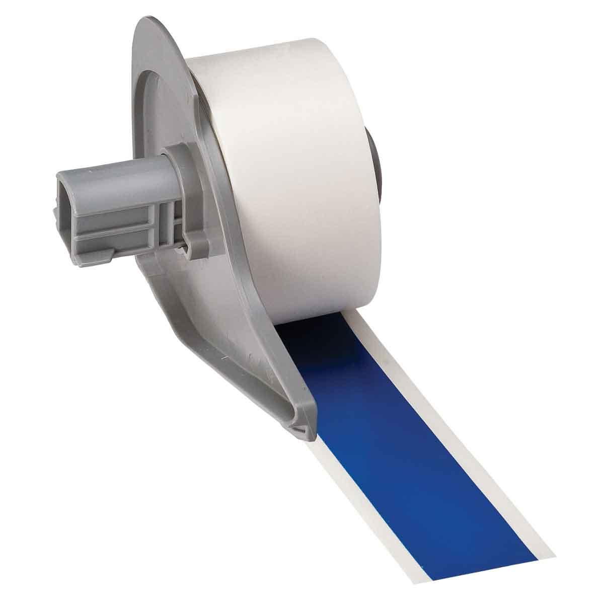 Brady® M71C-1000-595-BL Blank Thermal Transfer Tape, 50 ft L x 1 in W, Blue, B-595 Vinyl, Permanent Acrylic Adhesive, -40 to 180 deg F