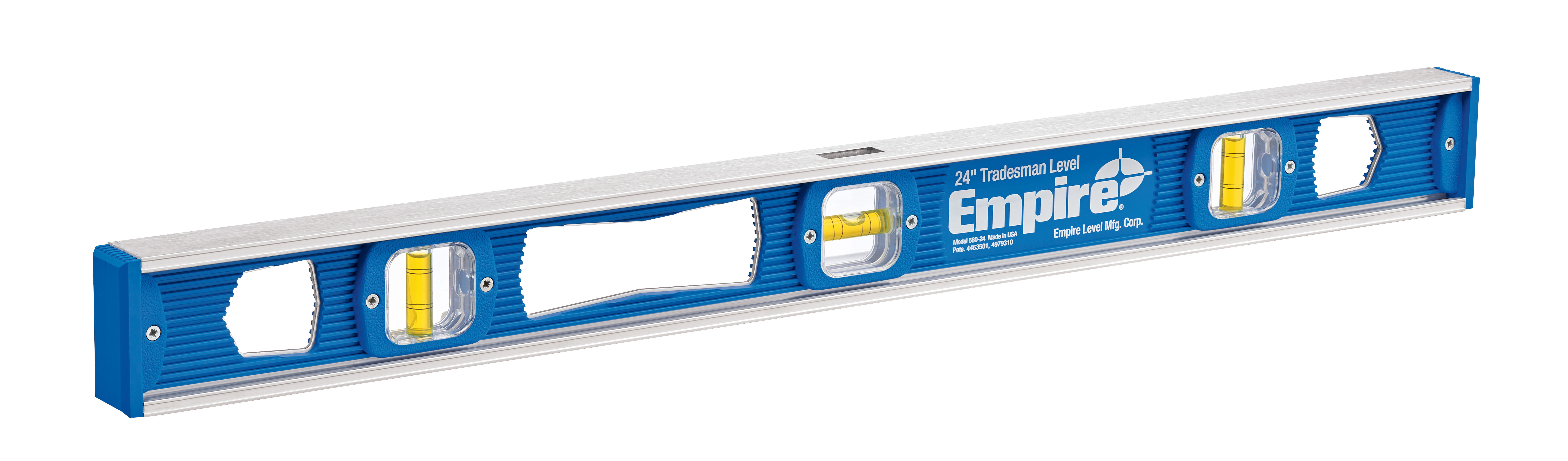 Milwaukee® Empire® 580-24 Non-Magnetic I-Beam Level, 24 in L, 3 Vials, Aluminum, (1) Level, (2) Plumb Vial Position, 0.001 in Accuracy