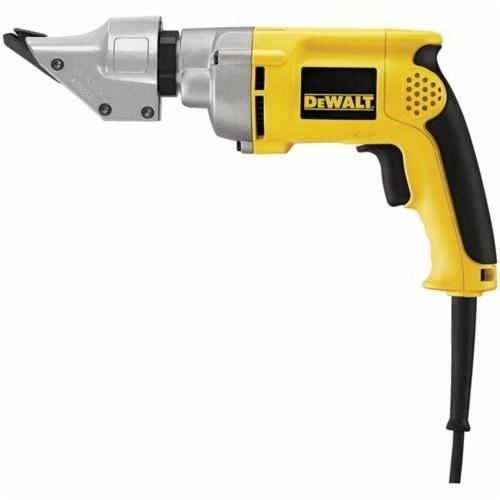 DeWALT® DW891 Corded Heavy Duty Swivel Head Shear, 14 ga Mild Steel, 16 ga Stainless Steel Cutting, 0 to 2500 spm, 120 VAC, 9.1 in OAL