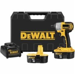 DeWALT® XRP™ DC825KA Cordless Impact Driver Kit, 1/4 in Hex Drive, 0 to 2700 bpm, 1330 in-lb Torque, 18 VAC, 5-3/4 in OAL