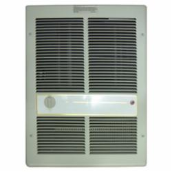 TPI E3313TRP 3310 1-Phase Standard Fan Forced Wall Heater With In-Built Single Pole Thermostat, 5120/2560 Btu, 120 VAC, 12.5 A, 1500/750 W