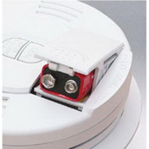 Kidde® 0914E Tamper-Resistant Smoke Detector Alarm, 10 ft Detection, Ionization Sensor, 9 VDC Battery, 85 dB