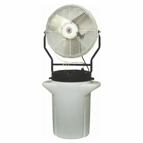TPI PM18S 1-Phase Portable Self-Contained Hand Carry Power Misting Fan, 18 in Blade, 5750 cfm, 120 VAC, 2.2 A, Domestic