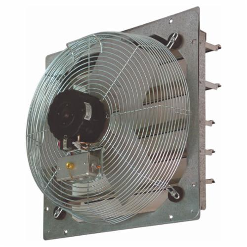 TPI CE24DS 1-Phase Direct Drive Standard Exhaust Fan, 24 in Dia Blade, 120 VAC, 2770/3400 cfm Flow Rate, 2 Speeds, 27-1/8 in W
